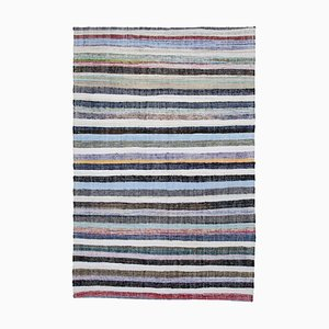 Multicolor Oriental Hand Knotted Wool Vintage Kilim Carpet