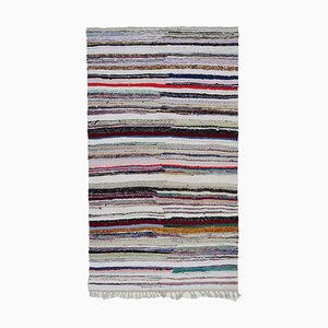 Anatolischer Handgefertigter Vintage Kelim Teppich aus Wolle