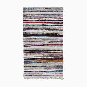 Tapis Kilim Vintage en Laine Anatolienne Multicolore