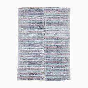 Turquoise Oriental Handmade Wool Vintage Kilim Carpet