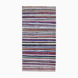 Tapis Kilim Vintage en Laine Anatolien Multicolore Noué à la Main
