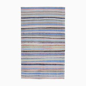 Beige Anatolian Handmade Wool Vintage Kilim Carpet