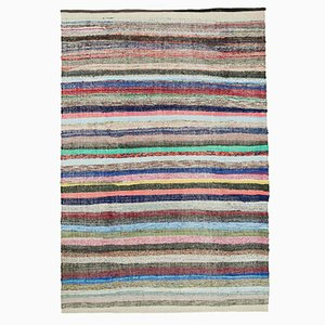 Beiger Orientalischer Handgeknüpfter Vintage Kilim Teppich aus Wolle