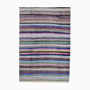 Beige Oriental Handmade Wool Vintage Kilim Carpet