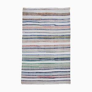 Multicolor Anatolian Handmade Wool Vintage Kilim Carpet