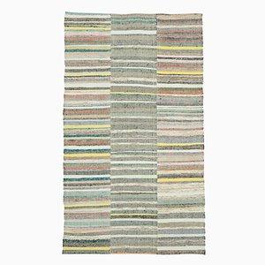 Mehrfarbiger Orientalischer Handgeknüpfter Vintage Kilim Teppich aus Wolle