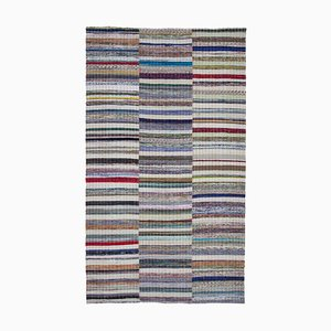 Tapis Kilim Vintage en Laine Turque Noué à la Main Multicolore