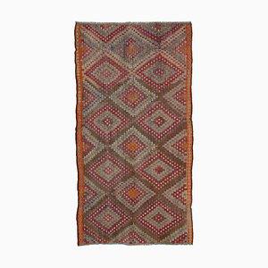 Tapis Kilim Vintage Oriental en Laine Multicolore