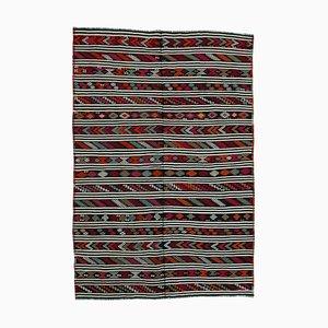 Tapis Kilim Vintage en Laine Turque Multicolore