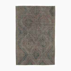 Beige Oriental Hand Knotted Wool Vintage Kilim Carpet