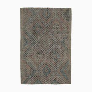 Tapis Kilim Vintage en Laine Noué à la Main Beige Oriental