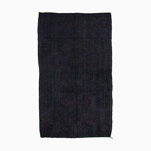 Tapis Kilim Vintage en Laine Noué à la Main Turc Noir
