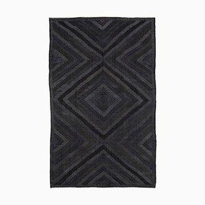 Tapis Kilim Vintage en Laine Oriental Noir