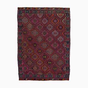 Roter Anatolischer Handgeknüpfter Vintage Kilim Teppich aus Wolle