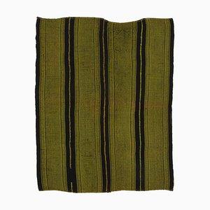 Green Oriental Handmade Wool Vintage Kilim Carpet
