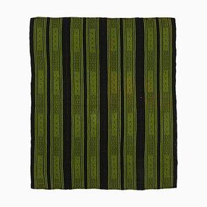 Brauner orientalischer Handgeknüpfter Vintage Kilim Teppich aus Wolle