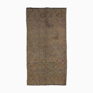 Tapis Kilim Vintage en Laine Turque Noué à la Main Beige