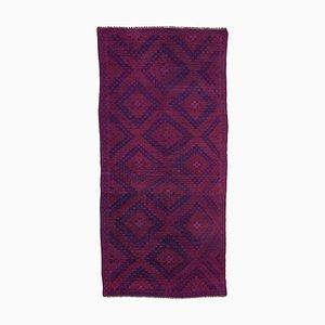 Purple Oriental Handmade Wool Vintage Kilim Carpet