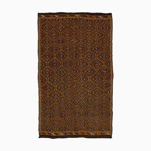 Multicolor Anatolian Hand Knotted Wool Vintage Kilim Carpet