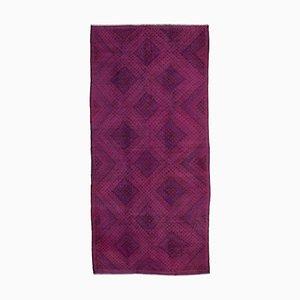 Pink Oriental Handmade Wool Vintage Kilim Carpet