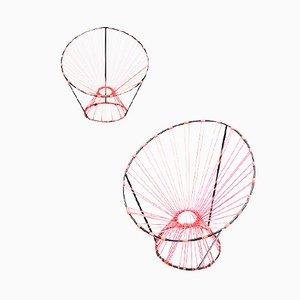 Chaises Coquetier par A.R.P. pour Steiner, Set de 2