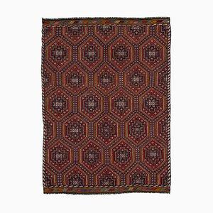 Multicolor Oriental Hand Knotted Wool Vintage Kilim Carpet