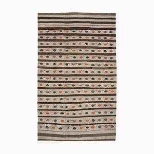 Tapis Kilim Vintage en laine tribal fait main décoratif turc