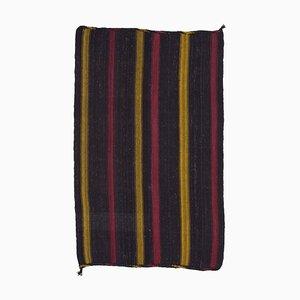 Tapis Kilim Vintage en Laine Tribal Traditionnel Marron