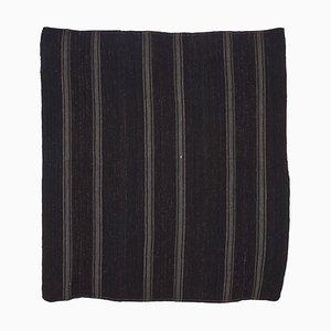 Tapis Kilim Vintage en laine tribal fait à la main marron turque