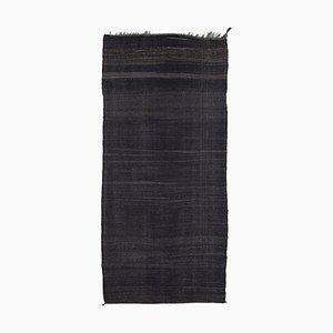 Brown Traditional Handmade Tribal Wool Vintage Kilim Carpet
