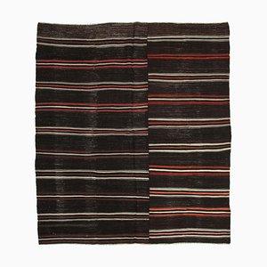 Turkish Antique Hand Konotted Tribal Wool Vintage Kilim Carpet