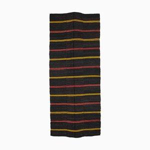 Türkischer Brauner Handgeknüpfter Vintage Kilim Teppich aus Stammeswolle