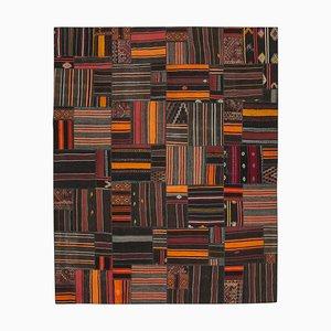 Orientalischer Handgeknüpfter Handgeknüpfter Vintage Kelim Teppich aus Indigener Wolle