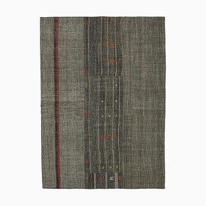 Oriental Antique Grey Tribal Wool Vintage Kilim Carpet