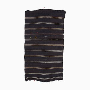 Turkish Handmade Tribal Wool Vintage Runner Kilim Carpet