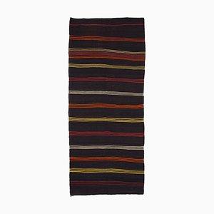 Anatolian Handmade Tribal Wool Vintage Runner Kilim Carpet