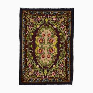 Brown Bessarabian Handmade Tribal Vintage Kilim Carpet