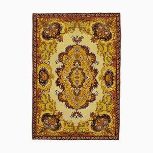 Orange Bessarabian Handmade Tribal Vintage Kilim Carpet