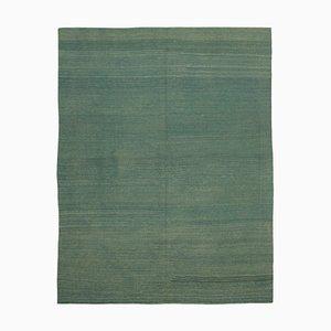 Oriental Turquoise Handmade Wool Flatwave Kilim Carpet