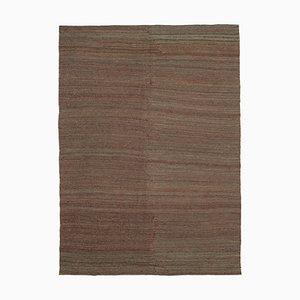 Anatolian Brown Handmade Wool Flatwave Kilim Carpet
