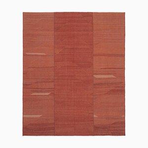 Roter Anatolischer Flatwave Kilim Teppich aus Handgewebter Wolle