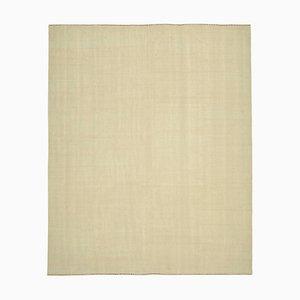 Oriental Beige Hand Knotted Wool Flatwave Kilim Carpet