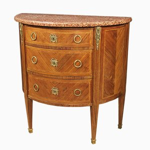 Semicircular French Walnut Dresser