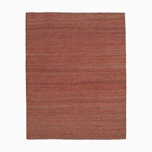 Oriental Red Hand Knotted Wool Flatwave Kilim Carpet