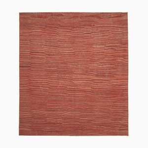 Turkish Red Handwoven Antique Flatwave Kilim Carpet