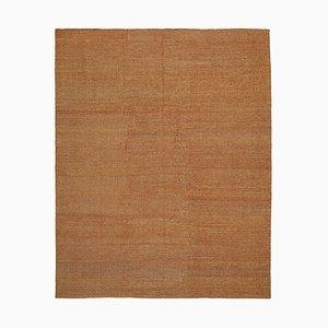Anatolian Orange Handwoven Antique Flatwave Kilim Carpet