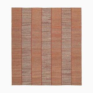 Oriental Red Handmade Wool Flatwave Kilim Carpet