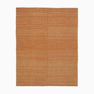 Anatolian Orange Handmade Wool Flatwave Kilim Carpet