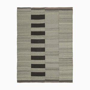 Turkish Brown Hand Knotted Wool Flatwave Kilim Carpet