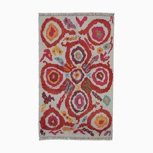 Multicolor Moroccan Handwoven Long Pile Tribal Carpet